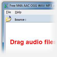 Free M4A AAC OGG WAV MP3 audio converter